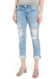 Hudson Jeans Riley Crop Relaxed Straight Leg Jeans (Push & Shove)