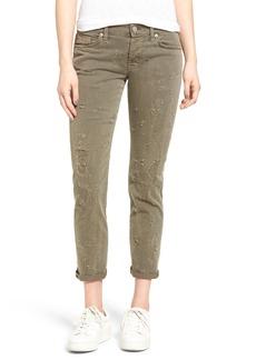 Hudson Jeans Riley Grommet Boyfriend Jeans