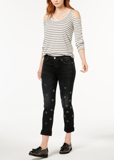 Hudson Jeans Riley Ripped Straight-Leg Jeans