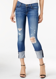 Hudson Jeans Ripped Muse Cuffed Skinny