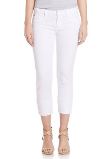 Hudson Jeans Rolled Stretch-Cotton Jeans