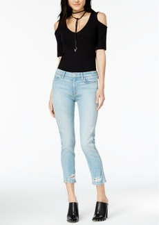 Hudson Jeans Savvy Ripped Cropped Jeans