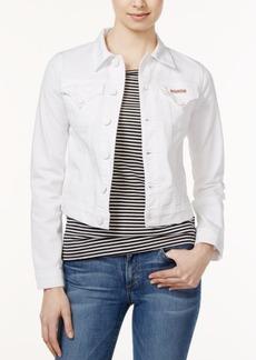 Hudson Jeans Signature White Wash Denim Jacket