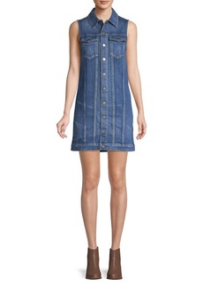Hudson Jeans Sleeveless Denim Shirtdress