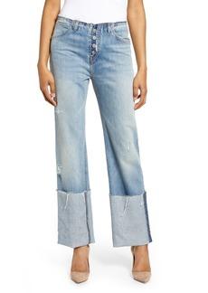 Hudson Jeans Sloane Baggy High Waist Deep Cuff Jeans (Vanquish)