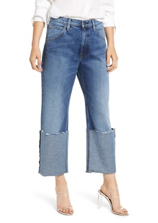Hudson Jeans Sloane Extreme Cuff High Waist Raw Hem Jeans (After Hours)