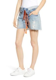 Hudson Jeans Sloane Foldover Waist Cutoff Denim Shorts (Renewal)