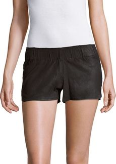 Hudson Jeans Solid Leather Shorts