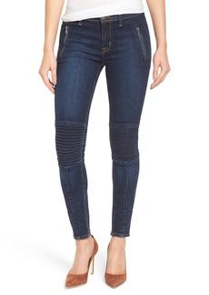 Hudson Jeans 'Stark' Moto Skinny Jeans (Civilian)