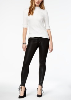 Hudson Jeans Stevie Lace-Up Skinny Ankle Jeans