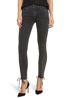 Hudson Jeans Stevie Lace-Up Skinny Jeans (Vacancy)