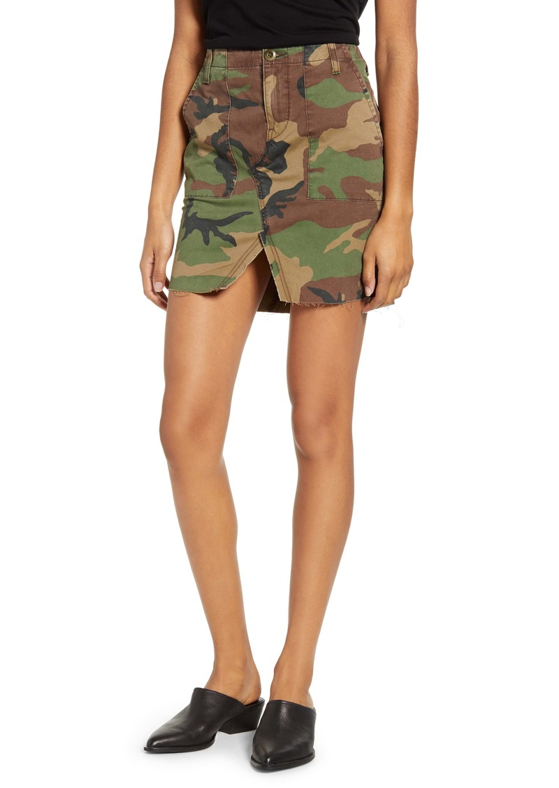 Hudson Jeans Stone Camo Utility Skirt