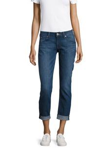 Hudson Jeans Straight Flood-Cuff Jeans