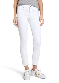 Hudson Jeans Tally Ankle Skinny Jeans (Optical White)