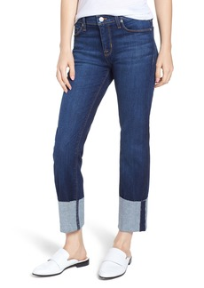 Hudson Jeans Tally Cuff Ankle Straight Leg Jeans (Midnight Navy)