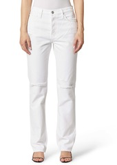 Hudson Jeans Thalia Ripped High Waist Loose Fit Jeans (Worn White)