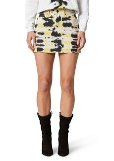 Hudson Jeans Tie-Dyed High-Rise Viper Mini Skirt