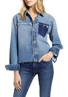 Hudson Jeans Two Tone Cutoff Denim Shirt