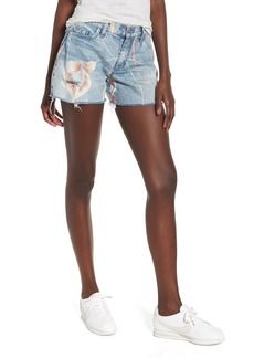 Hudson Jeans Valeri Painted Denim Shorts (In Bloom)