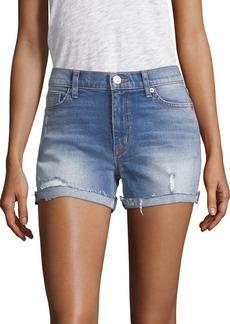 Hudson Jeans Valeri Rolled Denim Shorts