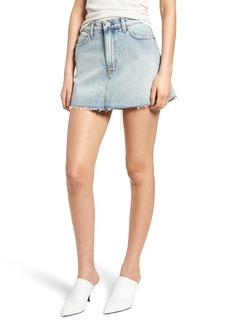 Hudson Jeans Vivid Cutoff Denim Miniskirt