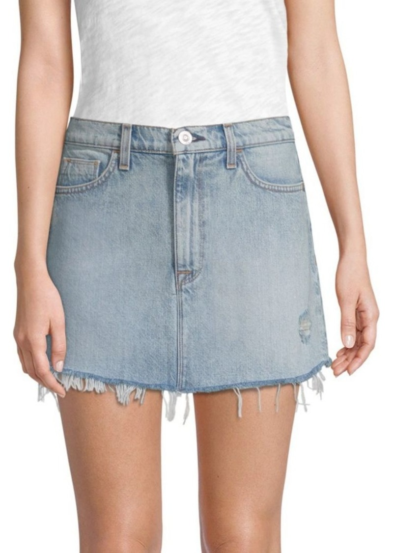 7e93b9a81 Hudson Jeans Vivid Distressed Denim Mini Skirt | Skirts