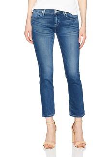 Hudson Jeans Women's Bailee Midrise Crop Baby Boot Flap Jean Roll with IT