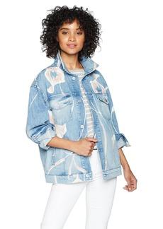 HUDSON Jeans Women's Bandit Trucker Jean Jacket  MD