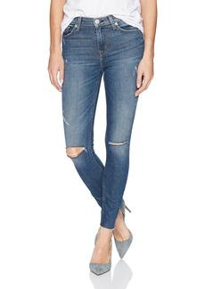 Hudson Jeans Women's Barbara High Rise Super Skinny Ankle Raw Hem Jeans