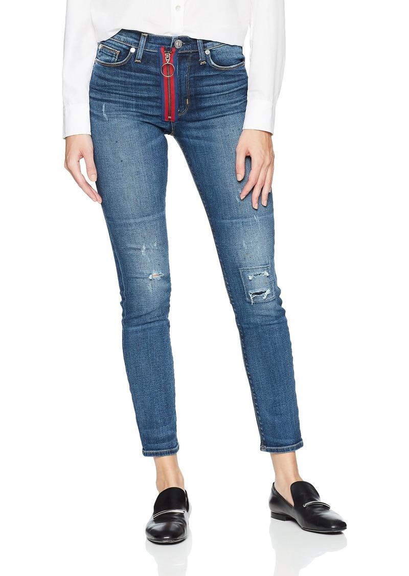HUDSON Jeans Women's Barbara High Rise Super Skinny Fit Exposed Zipper Ankle Jean VIBEZ