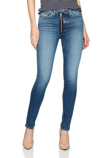 Hudson Jeans Women's Barbara High Rise Super Skinny Jean with Exposed Zipper