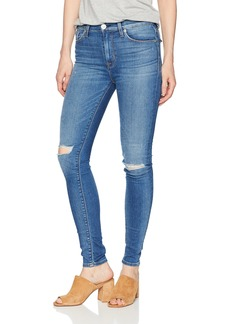 Hudson Jeans Women's Barbara HIGH Waist Super Skinny 5 Pocket Jean ULTRALT Destructed