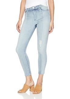 Hudson Jeans Women's Barbara HIGH Waist Super Skinny Crop 5 Pocket Jean PUREST Expression