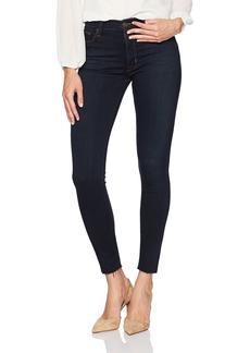 Hudson Jeans Women's Barbara High Rise Super Skinny Jean With Raw Hem