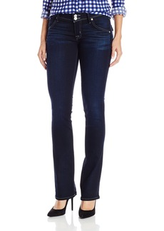 Hudson Jeans Women's Beth Midrise Baby Bootcut Flap Pocket Elysian Denim Jean