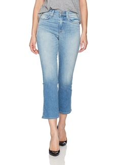 Hudson Jeans Women's Brixx High Rise Crop Flare 5 Pocket Jean in Vintage Blue