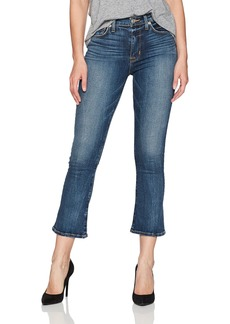 Hudson Jeans Women's Brixx High Rise Crop Flare 5 Pocket Jean Lonestar