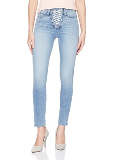 Hudson Jeans Women's Bullocks HIGH Rise LACE UP Super Skinny 5 Pocket Jean