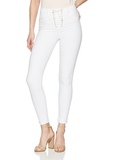 Hudson Jeans Women's Bullocks HIGH Rise LACE UP Super Skinny