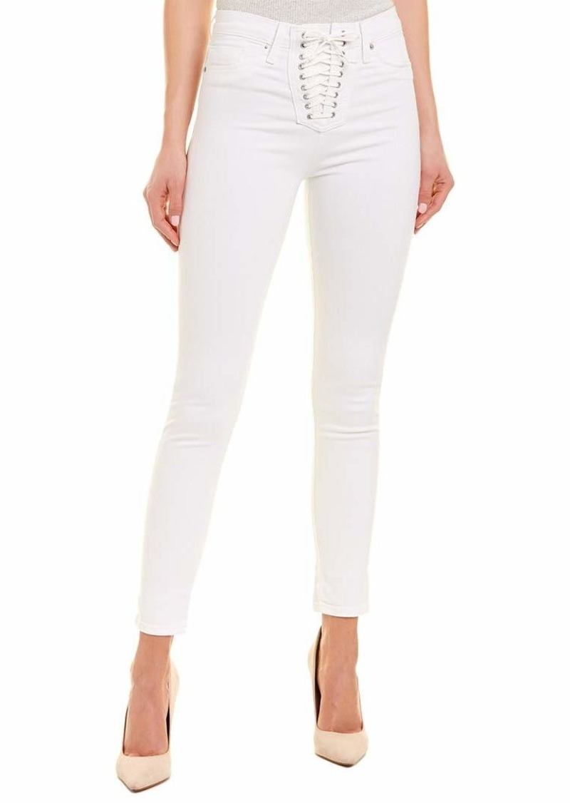HUDSON Jeans Women's Bullocks HIGH Rise LACE UP Super Skinny