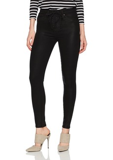 Hudson Jeans Women's Bullocks High Rise Lace up Super Skinny Coated Jeans