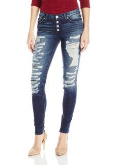 Hudson Jeans Women's Ciara Exposed Button Super Skinny 5-Pocket Jean bombard Blue