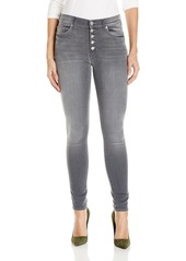 Hudson Jeans Women's Ciara High Rise Exposed Button Super Skinny Jeans  Off