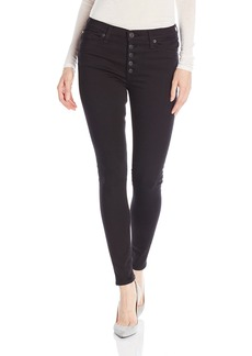 Hudson Jeans Women's Ciara Super Skinny Exposed Button Fly 5-Pocket Jeans black