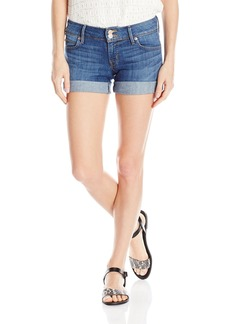 Hudson Jeans Women's Croxley Mid Thigh Rolled Flap Pocket Short