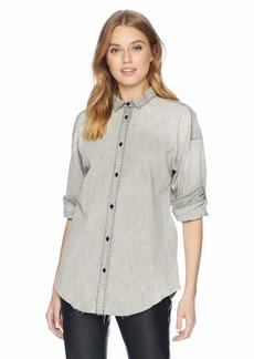 HUDSON Jeans Women's Denim Shirt  LG