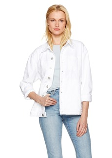 Hudson Jeans Women's Emmet Long Sleeve Boyfriend Jacket  M