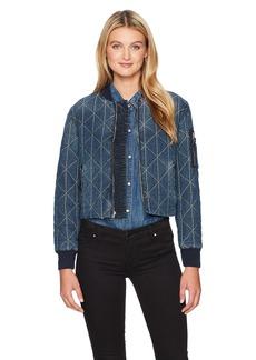 Hudson Jeans Women's Gene Puffy Bomber