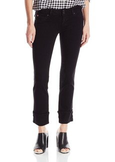 Hudson Jeans Women's Ginny Crop Straight With Cuff Flap Pocket Jean black 27