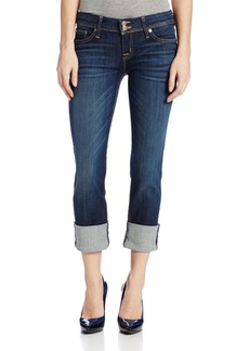 Hudson Jeans Women's Ginny Crop Straight With Cuff Flap Pocket Jean  24
